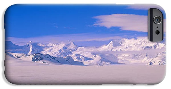 Mountain iPhone Cases - Mountains In Wrangell-st.elias National iPhone Case by Panoramic Images