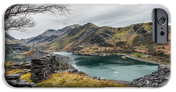Snow iPhone Cases - Mountains of Snowdonia iPhone Case by Adrian Evans