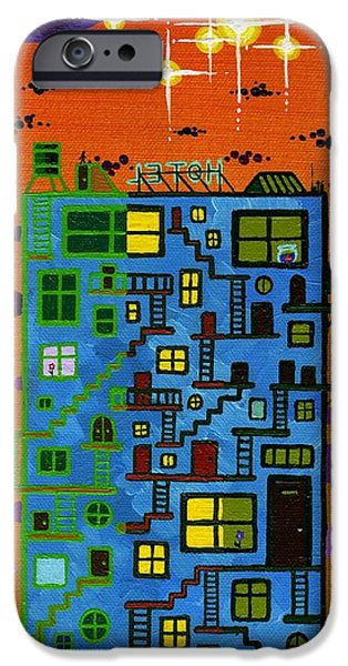 Staircase Paintings iPhone Cases - Moven On Up iPhone Case by Dan Keough