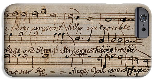Autographed Photographs iPhone Cases - Mozart: Motet Manuscript iPhone Case by Granger