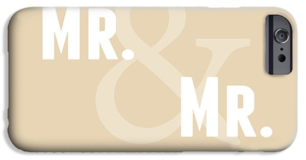 Wedding iPhone Cases - Mr and Mr and Dog- sand iPhone Case by Linda Woods