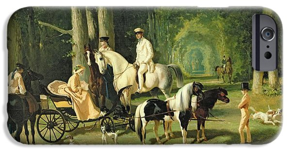 Young iPhone Cases - Mr and Mrs A Mosselman and their Two Daughters iPhone Case by Alfred Dedreux