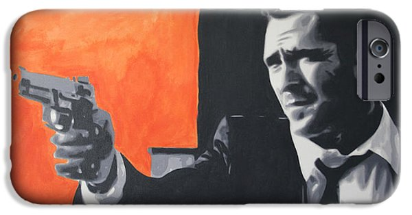Reservoir Dogs iPhone Cases - Mr Blonde 2013 iPhone Case by Luis Ludzska
