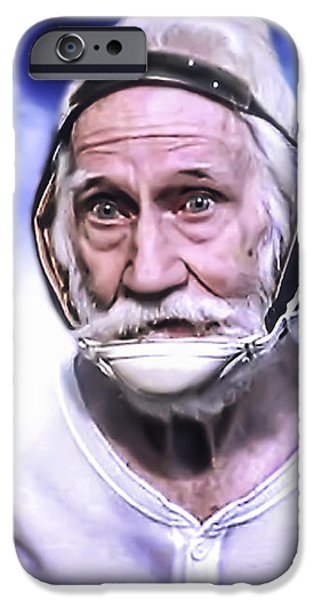 Mr. Joseph Blue Pulaski iPhone Case by Nicholas  Grunas