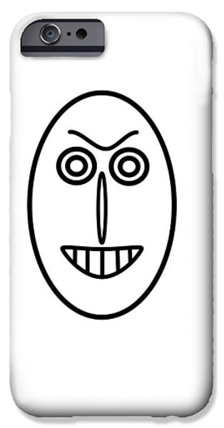 Little Pyrography iPhone Cases - Mr MF has a false smile iPhone Case by Axko Color de paraiso