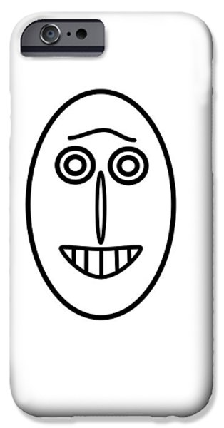 Little Pyrography iPhone Cases - Mr MF has a smile iPhone Case by Axko Color de paraiso