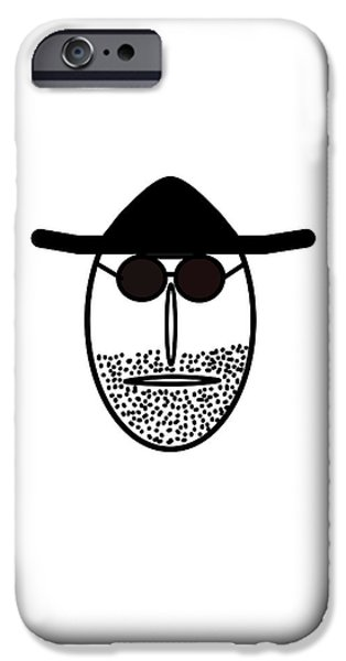 Little Pyrography iPhone Cases - Mr MF is latinlover  iPhone Case by Axko Color de paraiso