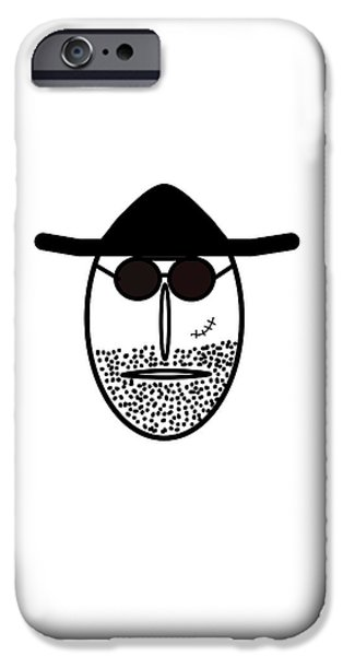 Little Pyrography iPhone Cases - Mr MF is scarface  iPhone Case by Axko Color de paraiso