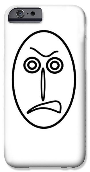 Little Pyrography iPhone Cases - Mr MF is very angry iPhone Case by Axko Color de paraiso