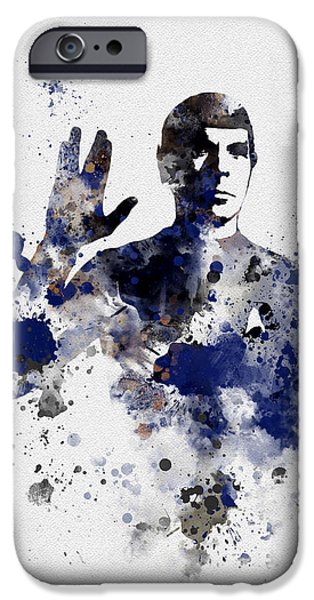 First Star iPhone Cases - Mr Spock iPhone Case by Rebecca Jenkins