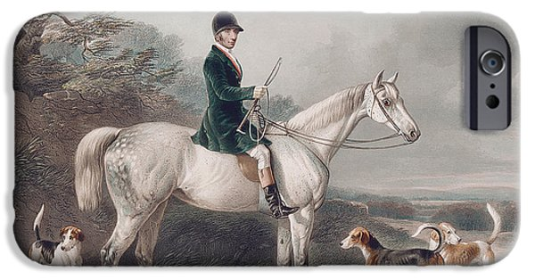 Hound iPhone Cases - Mr William Long on Bertha iPhone Case by W and H Barraud