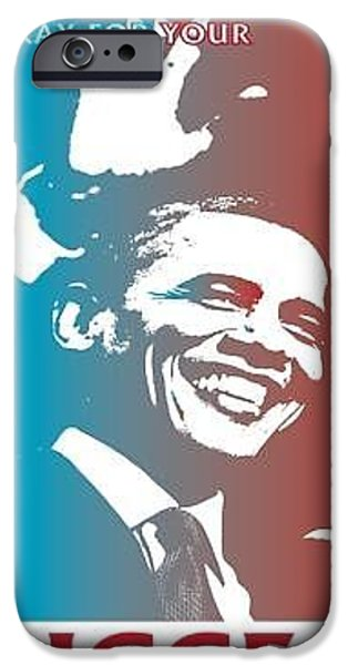 Obama iPhone Cases - Mr.President  iPhone Case by Christopher Johnson