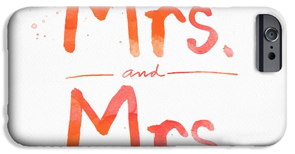 Celebration Mixed Media iPhone Cases - Mrs and Mrs iPhone Case by Linda Woods