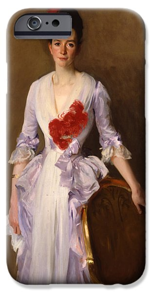 Three-quarter Length iPhone Cases - Mrs Archibald Douglas Dick iPhone Case by John Singer Sargent