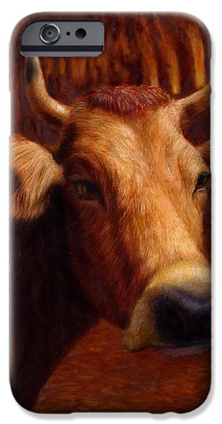 Mrs. O'Leary's Cow iPhone Case by James W Johnson