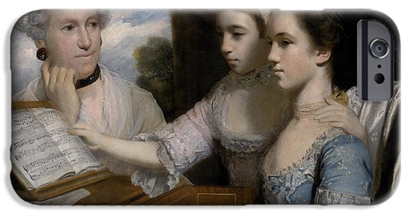 Sheets iPhone Cases - Mrs Paine and the Misses Paine iPhone Case by Sir Joshua Reynolds