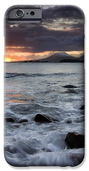 Sunset iPhone Cases - Mt. Edgecumbe Sunset iPhone Case by Mike  Dawson