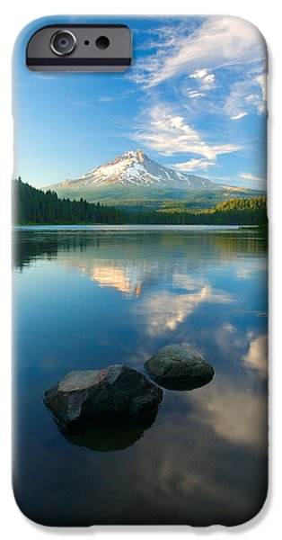 Mt iPhone Cases - Mt. Hood Cirrus Explosion iPhone Case by Mike  Dawson