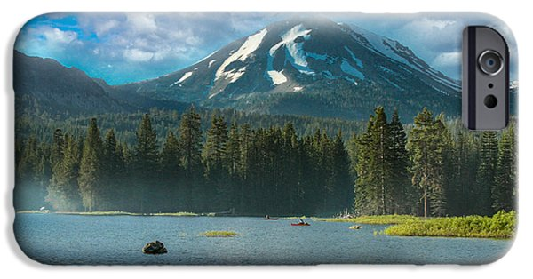 Bill Gallagher iPhone Cases - Mt Lassen From Lake Manzanita iPhone Case by Bill Gallagher
