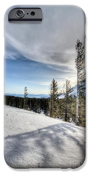 Mt iPhone Cases - Mt Rose Highway North Lake Tahoe Snow iPhone Case by Dustin K Ryan