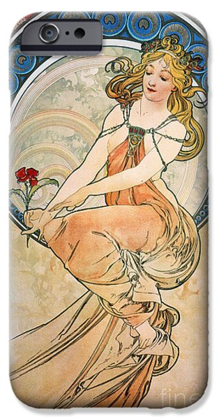MUCHA: POSTER, 1898 iPhone Case by Granger