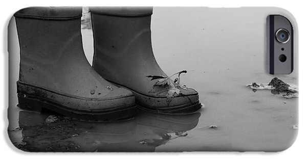 Rainy Day iPhone Cases - Mud Girl Boots iPhone Case by J L Zarek