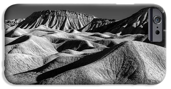 Monochrome iPhone Cases - Mud Hills and Elephant Knees iPhone Case by Joseph Smith
