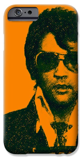 Wing Tong Digital iPhone Cases - Mugshot Elvis Presley iPhone Case by Wingsdomain Art and Photography