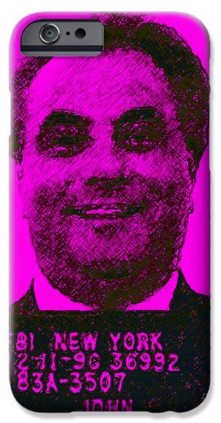 Mugshot John Gotti m88 iPhone Case by Wingsdomain Art and Photography