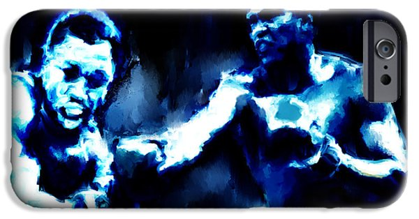 Olympic Gold Medalist iPhone Cases - Muhammad Ali and Joe Frazier iPhone Case by Brian Reaves