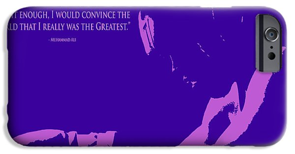 Boxer Digital Art iPhone Cases - Muhammad Ali the Greatest iPhone Case by Brian Reaves