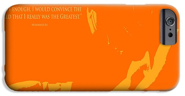 Boxer Digital Art iPhone Cases - Muhammad Ali the Greatest II iPhone Case by Brian Reaves