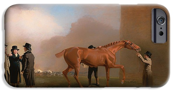 Horse Racing iPhone Cases - Mully Moloch iPhone Case by Benjamin Marshall
