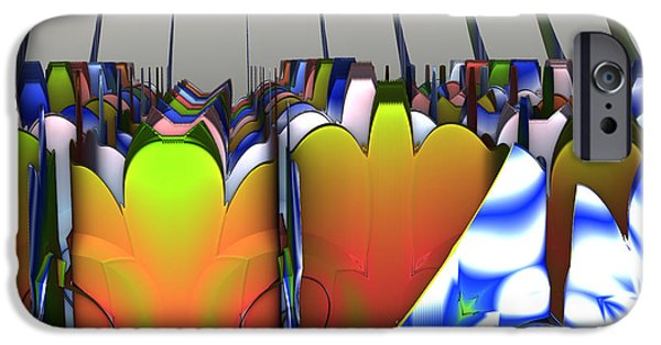 Shape iPhone Cases - Multi Colored Clover iPhone Case by Melissa Messick
