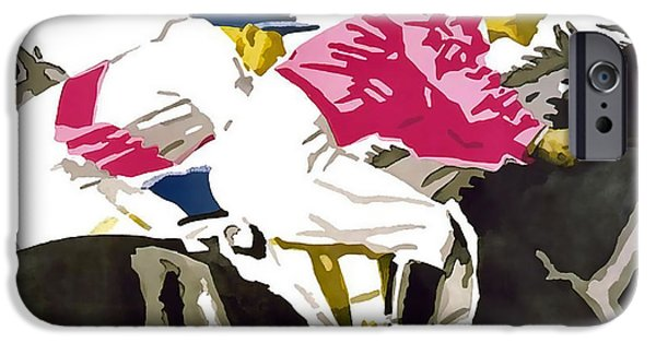 Horse Racing Mixed Media iPhone Cases - Munchener Rennverein E-V iPhone Case by David Wagner