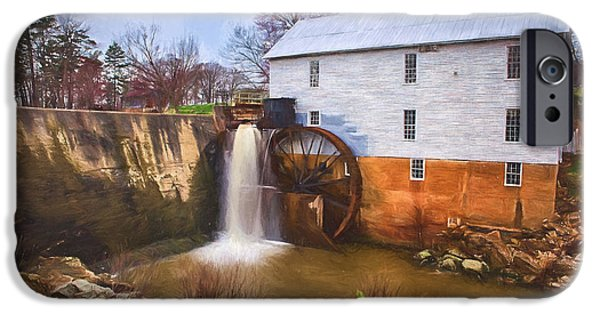 Historic Site Paintings iPhone Cases - Murrays Mill II iPhone Case by Dan Carmichael