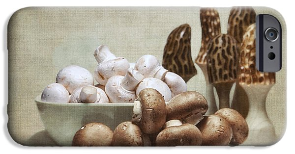 Mushroom iPhone Cases - Mushrooms and Carvings iPhone Case by Tom Mc Nemar