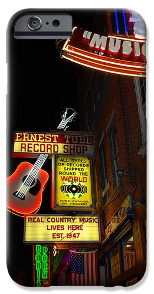 Music City Nashville iPhone Case by Susanne Van Hulst
