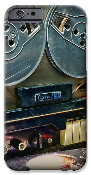 Disc iPhone Cases - Music- Reel to Reel Tape Deck iPhone Case by Paul Ward