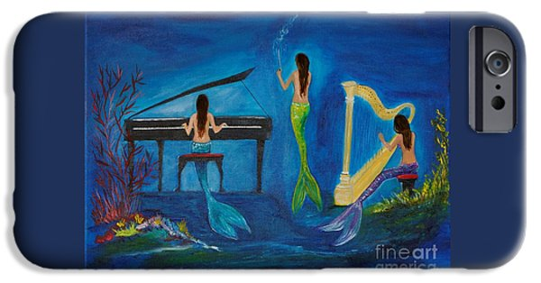 Recently Sold -  - Piano iPhone Cases - Musical Mermaids iPhone Case by Leslie Allen