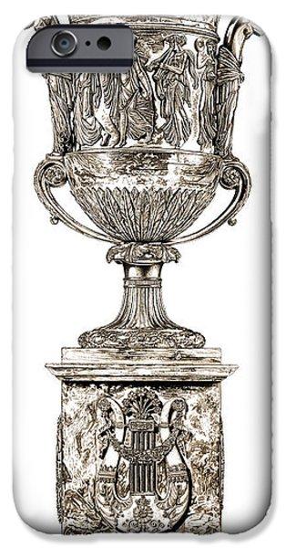 European Sculptures iPhone Cases - Musical Urn _ V2 iPhone Case by Bruce Algra