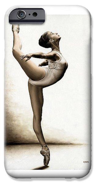 Drama iPhone Cases - Musing Dancer iPhone Case by Richard Young