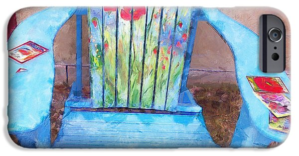 Furniture iPhone Cases - Muskoka Chair with Flowers iPhone Case by Claire Bull