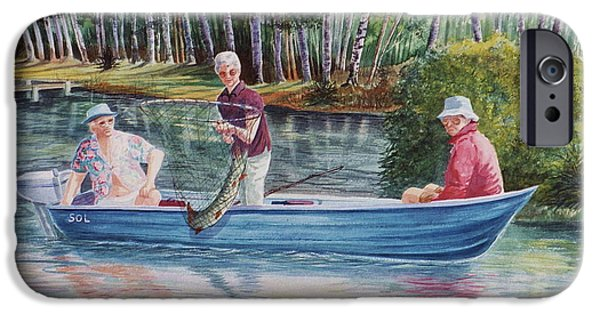 Musky Paintings iPhone Cases - Musky Madness iPhone Case by Marilyn Smith