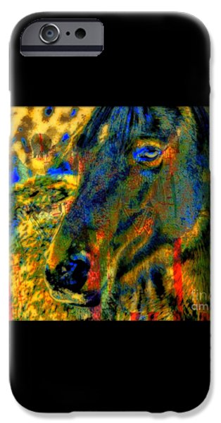 Mustang, A Tribute to Hidalgo iPhone Case by WBK