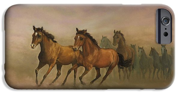 Freedom iPhone Cases - Mustang Freedom iPhone Case by Sean Conlon