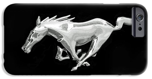 Auto iPhone Cases - Mustang iPhone Case by Rona Black