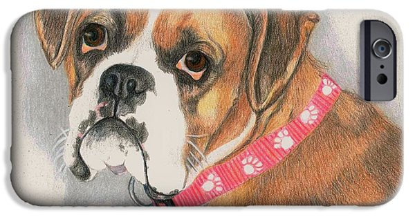 Boxer iPhone Cases - Muzzy iPhone Case by JoAnn   Morgan