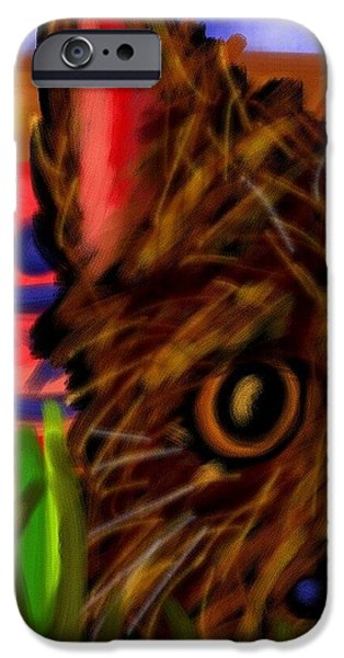 Puppy Digital Art iPhone Cases - My Best Buddy iPhone Case by Mark Greulach