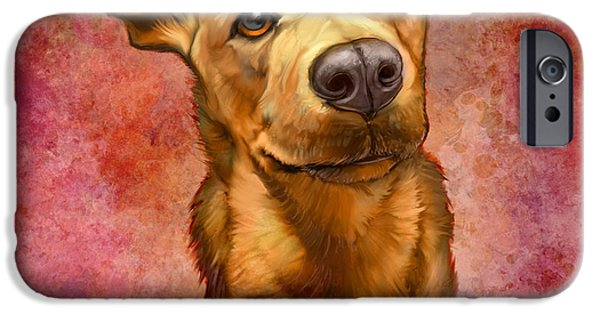 Portraits iPhone Cases - My Buddy iPhone Case by Sean ODaniels